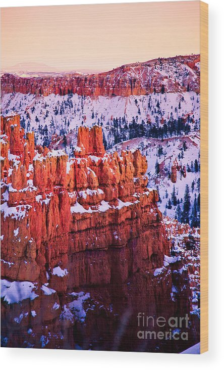 Outdoors Wood Print featuring the photograph Sunset Over A Hoodoo Nation I by Irene Abdou