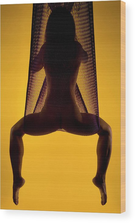 Woman Wood Print featuring the photograph Suspended II by Jimmy C