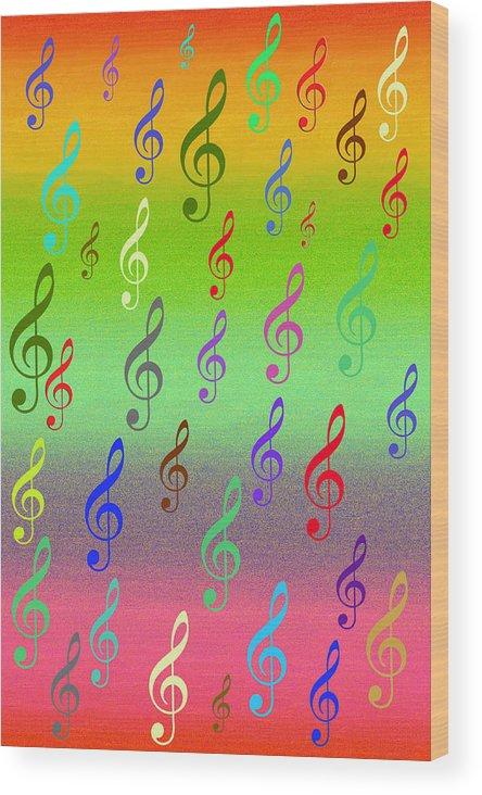 Digital Art Wood Print featuring the digital art Symphony Of Colors by Angel Jesus De la Fuente