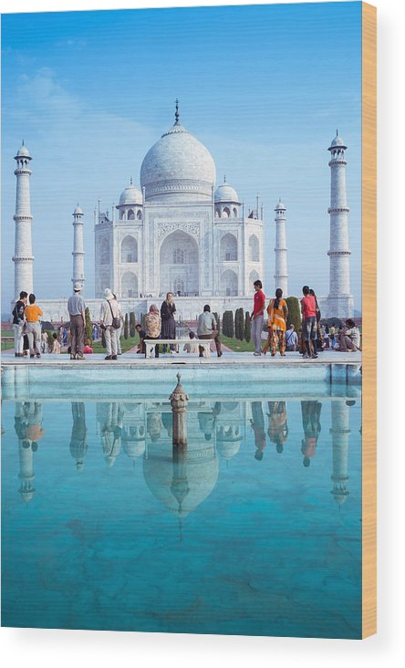 Ancient Wood Print featuring the photograph Taj Mahal by Nila Newsom