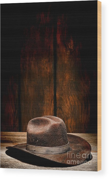 Cowboy Hat Wood Print featuring the photograph The Dirty Brown Hat by Olivier Le Queinec