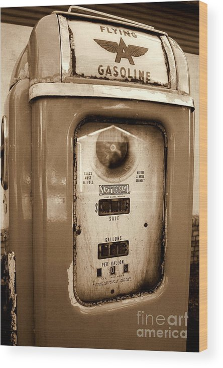 National Gas Pump Wood Print featuring the photograph The Good Old Days by DazzleMePhotography
