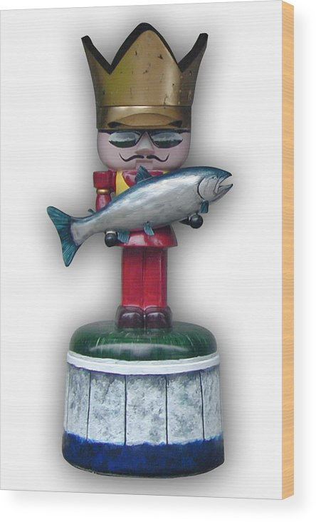 Nutcracker Wood Print featuring the sculpture The King And I by Paul Illian