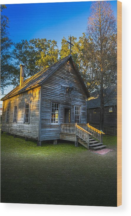 Florida State Fair Wood Print featuring the photograph The Old Church by Marvin Spates