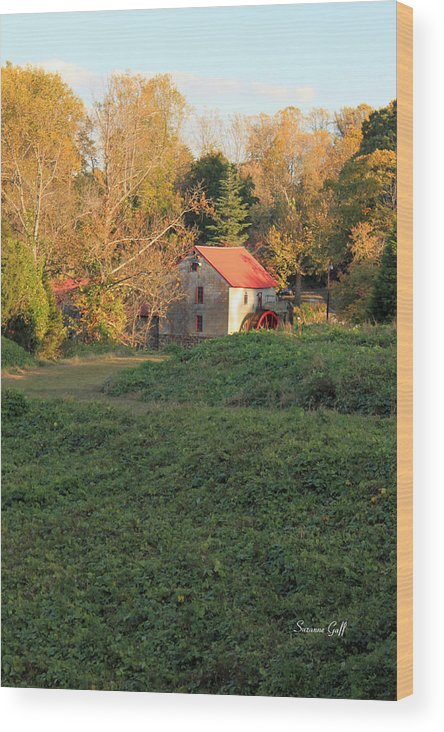Old Mill At Guilford Wood Print featuring the photograph The Old Mill At Guilford by Suzanne Gaff