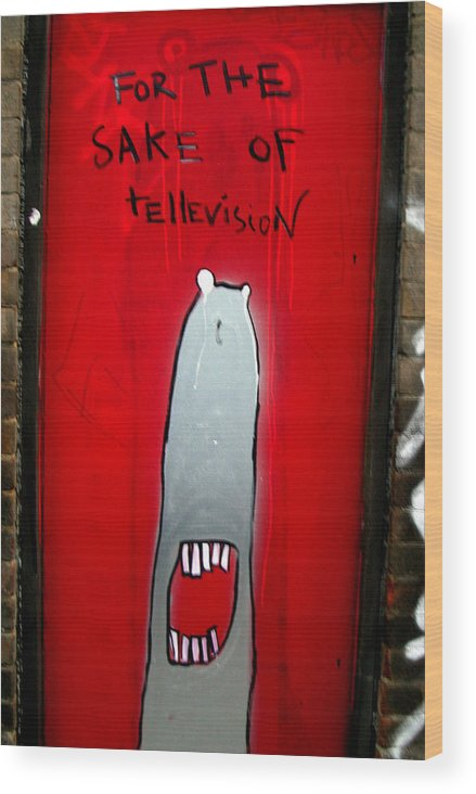 Jez C Self Wood Print featuring the photograph The Sharker Side Of Tv by Jez C Self