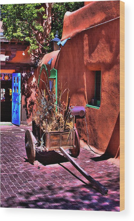 New Mexico Wood Print featuring the photograph The Wooden Cart by David Patterson