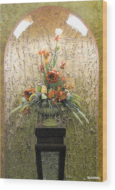Flowers Wood Print featuring the digital art Theater Flower Arrangement by Al Blackford