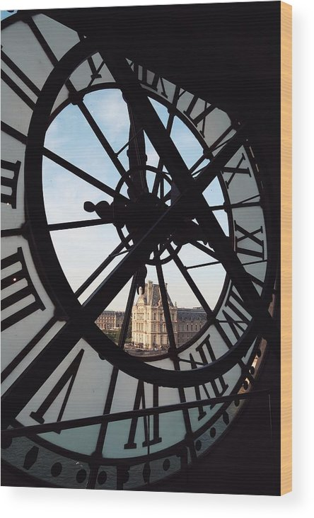 Clock Wood Print featuring the photograph Through The Clock by Claire Duda