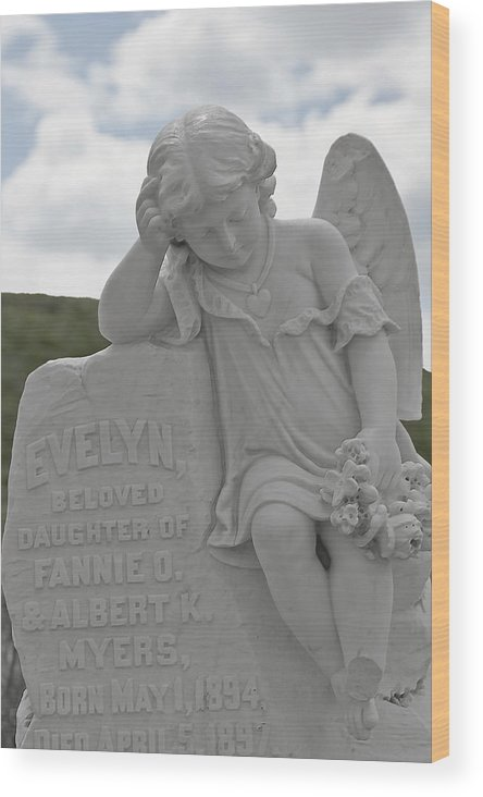 Bodie Wood Print featuring the photograph Tombstone Angel For An Angel by Christine Till