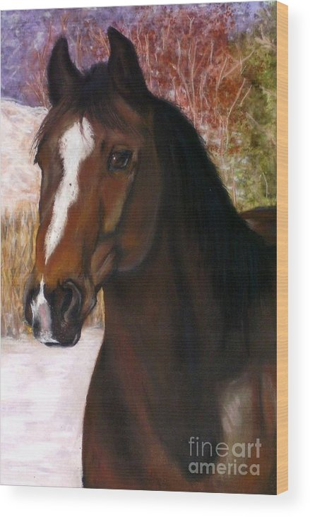Horse Wood Print featuring the painting Toronto by Frances Marino