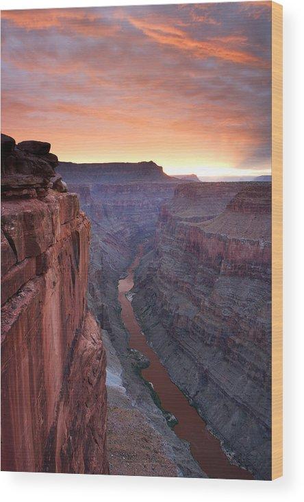 Arizona Wood Print featuring the photograph Toroweap Sunrise by Eric Foltz