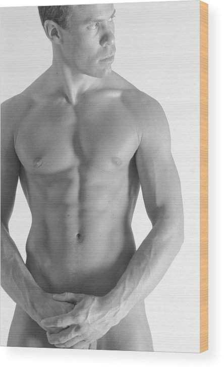 Nude Wood Print featuring the photograph Torso B by Dan Nelson
