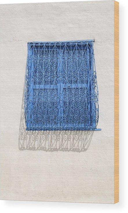 Tunisian Wood Print featuring the photograph Tunisian Window by Liz Pinchen