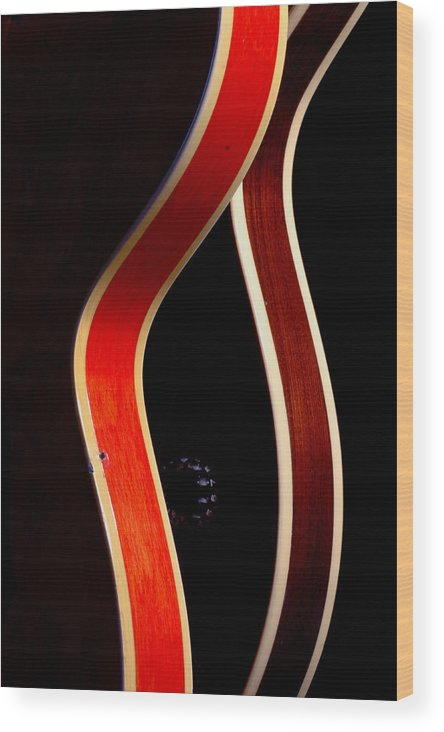 Guitar Wood Print featuring the photograph Twin Gibsons 2 by Art Ferrier