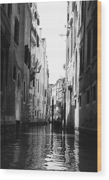 Venice Wood Print featuring the photograph Venice Canals by Greg Sharpe