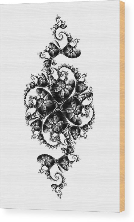 Abstract Wood Print featuring the digital art Victorian Air Conditioner by David April