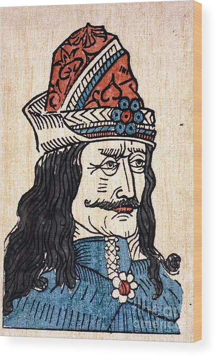 15th Century Wood Print featuring the photograph Vlad IIi (1431-1477) by Granger