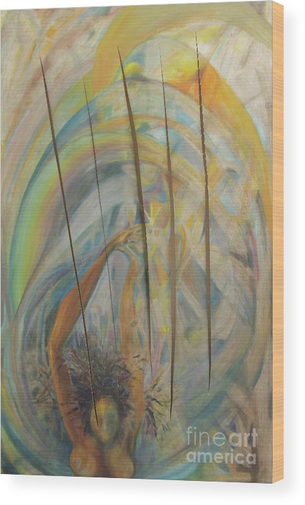 Oil Painting Wood Print featuring the painting Water by Daun Soden-Greene