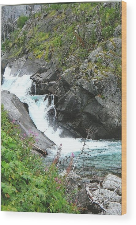 Waterfall Wood Print featuring the photograph Waterfall Of Paradise by Anthony Ritch