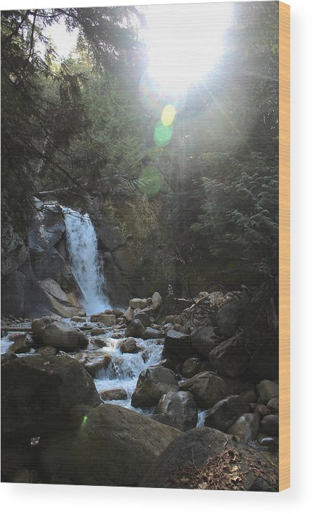 Water Wood Print featuring the photograph Waters Falling by Cathie Douglas