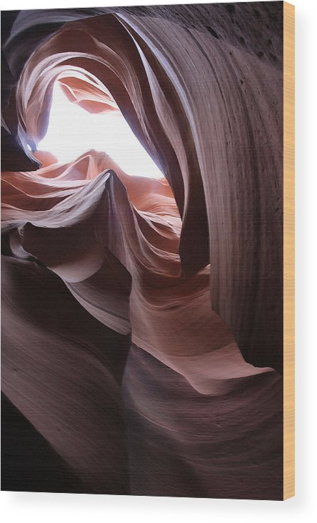 Landscape Wood Print featuring the photograph Waves Of Stone by Mary Haber