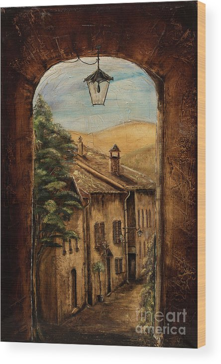 Italy Wood Print featuring the painting Welcome Home by Jodi Monahan