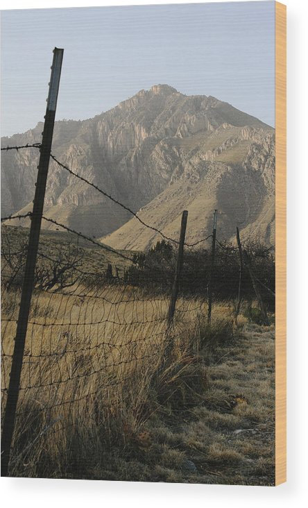 Texas Wood Print featuring the photograph West Texas April 2008 by Brian M Lumley