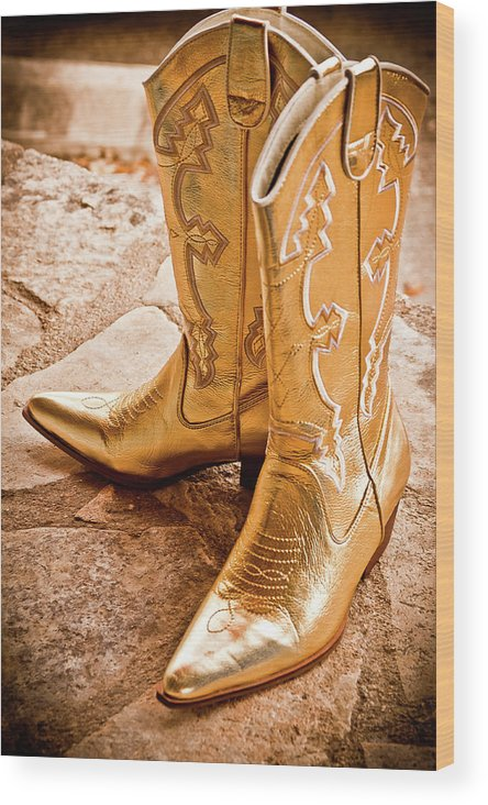 Boots Wood Print featuring the photograph Western Wear by Jill Smith