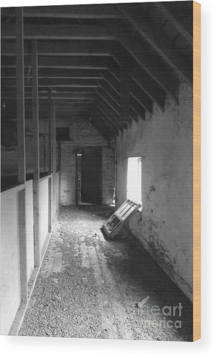 Abandoned Wood Print featuring the photograph What Lies Beyond by Justin Farrimond
