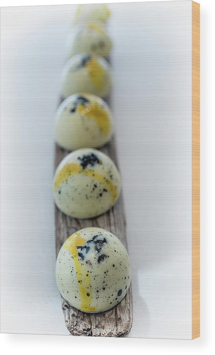 Chocolate Wood Print featuring the photograph White Chocolate With Black Sesame by Sabine Edrissi