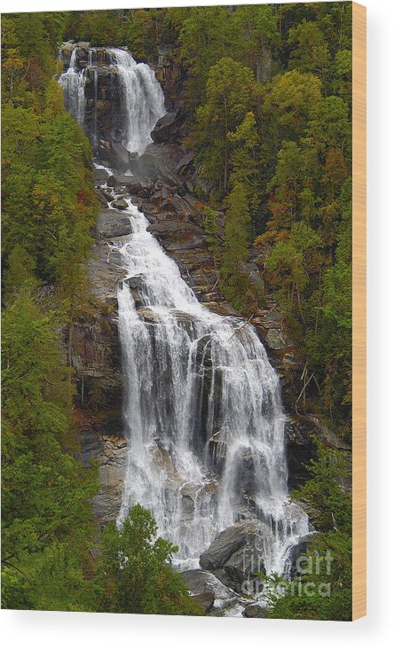 Waterfall Wood Print featuring the photograph Whitewater Falls by Neil Doren