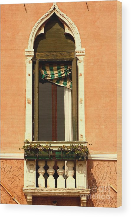 Venice Wood Print featuring the photograph Window In Venice by Michael Henderson