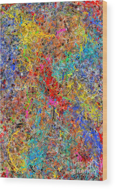 Abstract Art Prints Wood Print featuring the digital art Worldly by D Perry