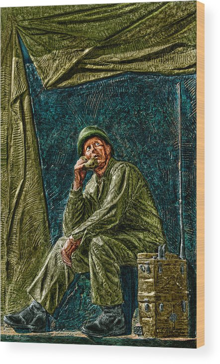 National Wwii Memorial Wood Print featuring the photograph Wwii Radioman by Christopher Holmes