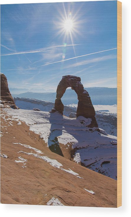 Delicate Arch Wood Print featuring the photograph Delicate Arch by Robert VanDerWal