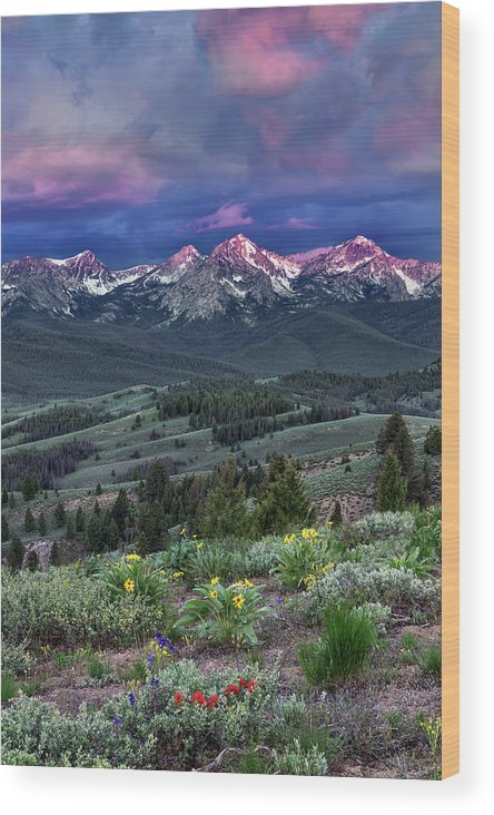 Beautiful Wood Print featuring the photograph Sawtooth Sunrise by Leland D Howard