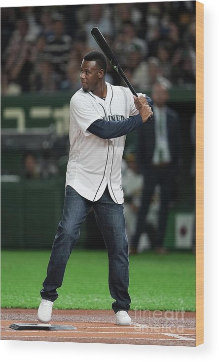 People Wood Print featuring the photograph Seattle Mariners V Oakland Athletics 29 by Masterpress