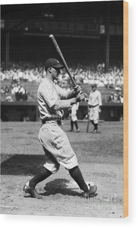 American League Baseball Wood Print featuring the photograph New York Yankees 4 by Kidwiler Collection