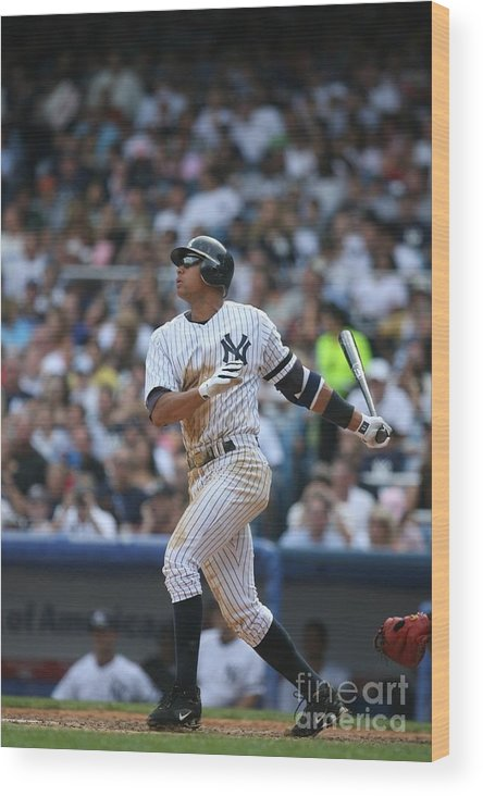 People Wood Print featuring the photograph Seattle Mariners V New York Yankees 4 by Rich Pilling