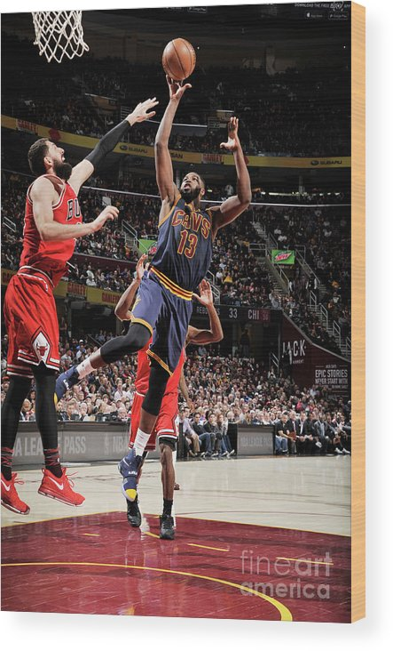 Nba Pro Basketball Wood Print featuring the photograph Chicago Bulls V Cleveland Cavaliers 8 by David Liam Kyle