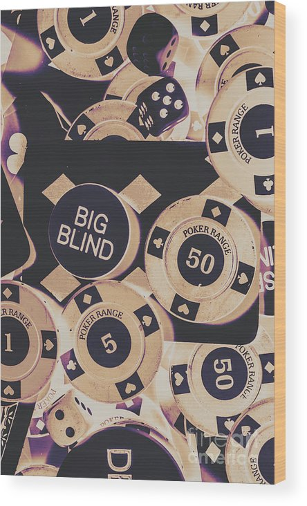 Game Wood Print featuring the photograph Diamond Odds by Jorgo Photography - Wall Art Gallery