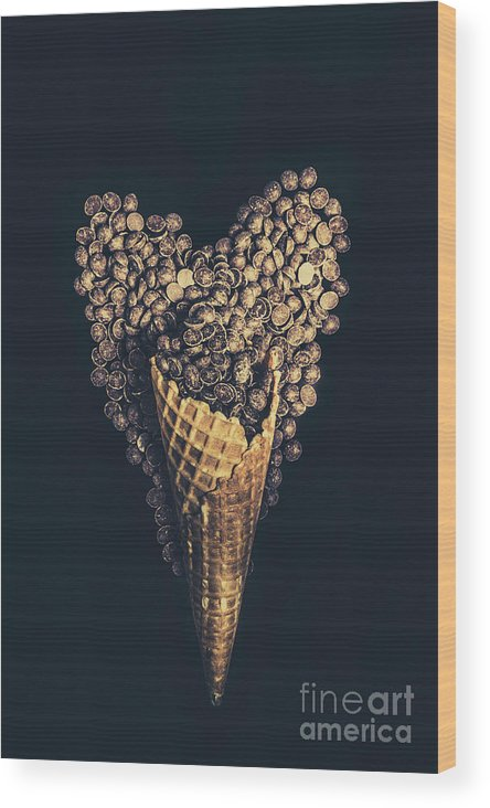 Chocolate Wood Print featuring the photograph For A Sweetheart by Jorgo Photography - Wall Art Gallery