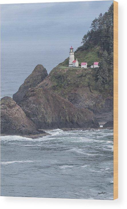 Heceta Head Lighthouse Wood Print featuring the photograph Heceta Head Light by Jurgen Lorenzen