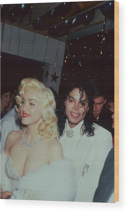 Singer Wood Print featuring the photograph Michael Jacksonmadonna by Time Life Pictures