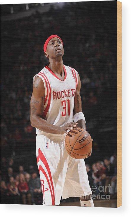 Jason Terry Wood Print featuring the photograph Milwaukee Bucks V Houston Rockets by Bill Baptist
