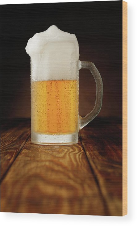 Alcohol Wood Print featuring the photograph Mug Of Beer by Ultramarinfoto