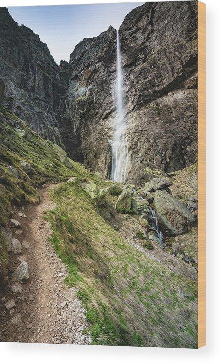 Balkan Wood Print featuring the photograph Raysko Praskalo Waterfall, Balkan Mountain by Milan Ljubisavljevic
