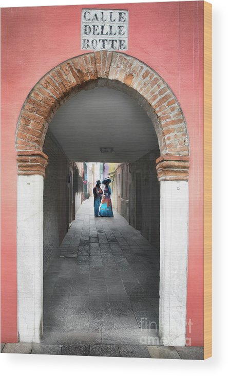 Carnival Wood Print featuring the photograph Romance In Burano by Linda D Lester
