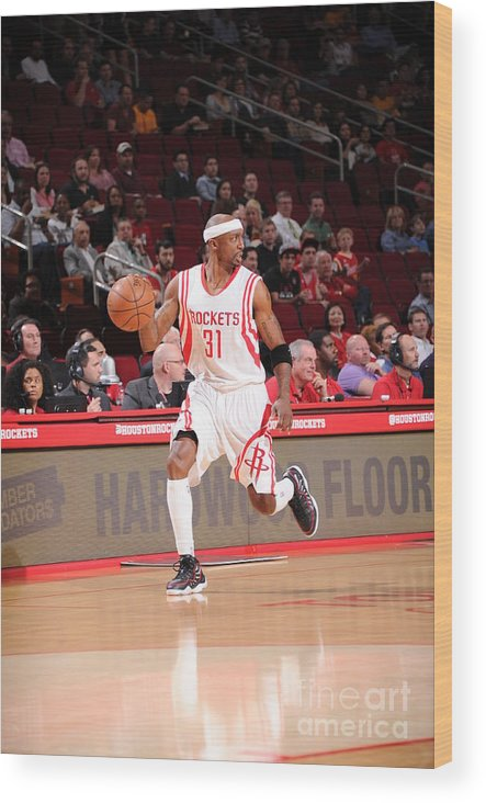 People Wood Print featuring the photograph Sacramento Kings V Houston Rockets by Bill Baptist
